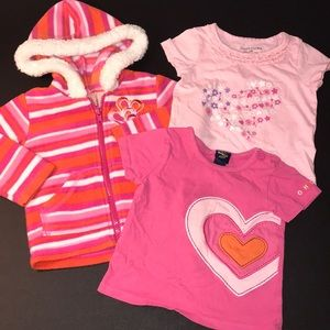 Baby Girl Bundle Lot Jacket and Shirts 12 Months